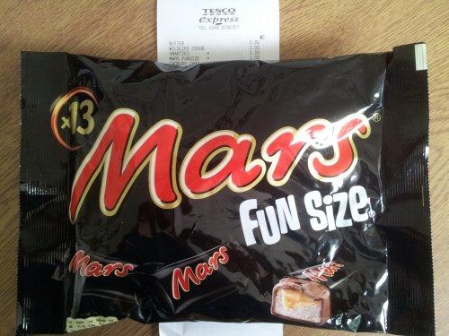 Mars Fun Size, Bag of 13, 250g £1 in Tesco!