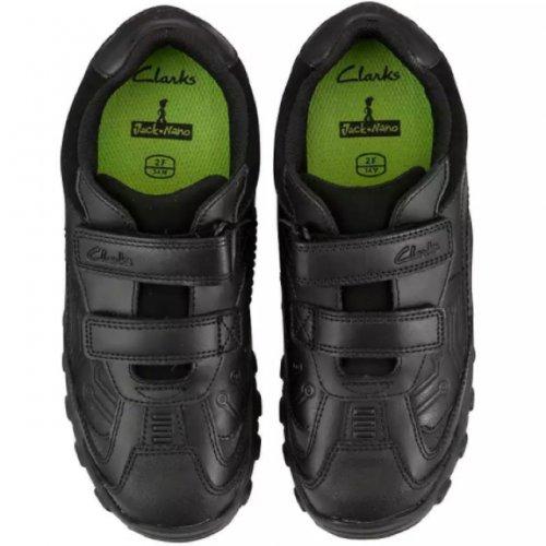 CLARKS Jack Nano shine black school shoes - £28 @ John Lewis