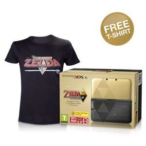 The Legend of Zelda: A Link Between Worlds Limited Edition 3DS XL CONSOLE With FREE T-Shirt (S - XL) & Free Mario / Luigi Case @ Nintendo Store (5% cashback possible) -  £199