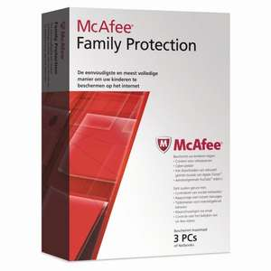 McAfee Family Protection  3 user £2.00 C&C @ Tesco