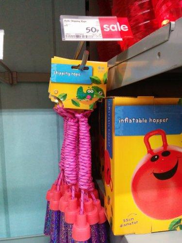 Girls Pink skipping rope 50p @ Asda