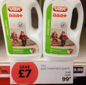 vax carpet cleaner 1.5litre 99p @ sainsburys