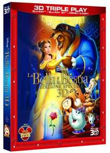 Beauty and the Beast 3D Blu-ray (Italian Import) £16.69 Delivered @ Amazon Italy