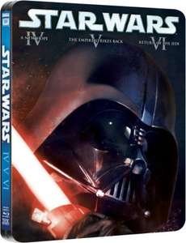 Star Wars original trilogy Ltd edition steelbook blu-ray (Episodes IV-VI) £21.95 @ Amazon