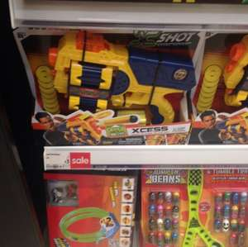 Kids toy gun - £3 instore @ ASDA