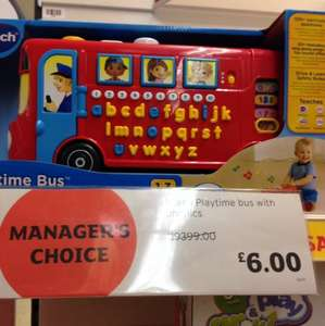 Vtech bus with phonics £6 sainsburys purley way