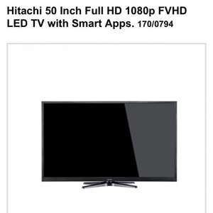 Hitachi 50 Inch Full HD 1080p FVHD LED TV with Smart Apps. £399 @ Argos