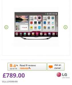 LG 55LA690V 55'' 3D Cinema Full HD SMART LED TV with Magic Remote from electricshop £789