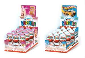 Kinder surprise eggs barbie , hot wheels £0.49p at asda