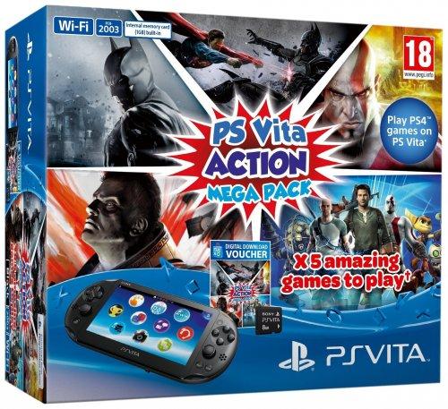 PS Vita Action Mega Pack Bundle £154.99 delivered @ Amazon