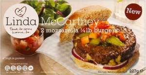 Linda McCartney Mozzarella Quarter Pounder Burgers (227g) / Red Onion & Rosemary Sausages (300g) - £1 (Half Price) @ Morrisons...
