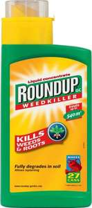 ** Roundup Liquid Concentrate Weedkiller 540ml now £8 @ Tesco Direct **