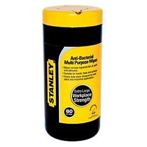 Stanley EXTRA lge Multipurpose Wipes Pack of 80 - Now only £3.19 collect @ Screwfix