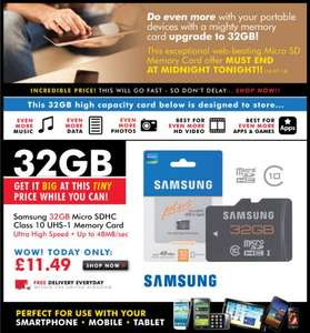 32GB Samsung Micro SDHC Class 10 Memory Card 11.49 with free delivery from Memorybits