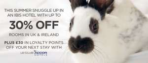30% sale on Ibis hotels + free breakfast + £30 worth of Accor points