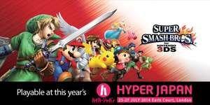 HyperJapan! - Tickets £8.75 each (Includes booking fee)  + Kids go FREE (Usually £12.75) - Get to Play Super Smash Bros /  Monster Hunter 4 Ultimate + Anime / Manga & More (25th -27th July - Earls Court)