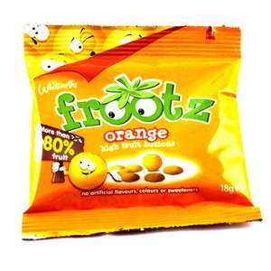 Frootz orange and strawberry buttons -5 pack - £1.29 - Home Bargains