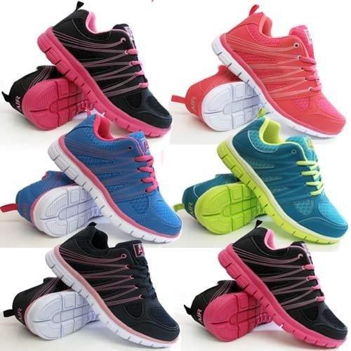LADIES RUNNING TRAINERS WOMENS SHOCK ABSORBING SPORTS WALKING FASHION GYM SHOES £13.99  @ ebay/Shoe fever