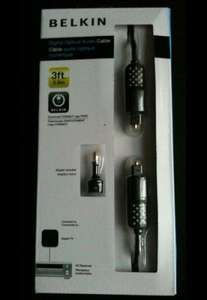 BELKIN optical audo cable 3ft (0.9m) + adapter - 99p @ 99p store