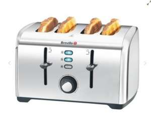 Now only £16.50 Instore! £29.99 Tesco Direct. Breville VTT431 4 Slice Toaster Stainless Steel