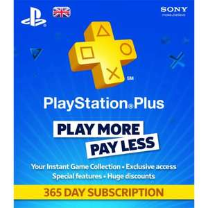 PS Plus 365 Day subscription £33.15 @ CDKeys
