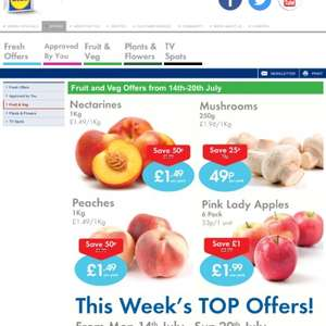 Lidl mushrooms 250g down from £0.74 - £0.49p
