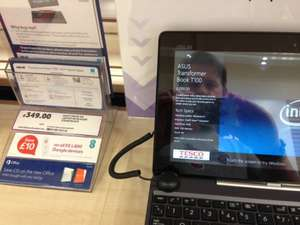 Asus Transformer T100 - £349 (£249 using Tesco double the difference policy) @ Tesco