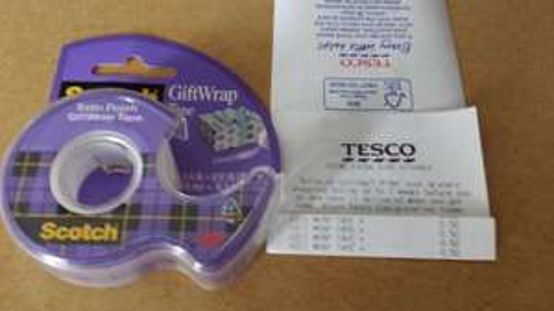 Scotch Gift Wrap Tape @ Tesco - 50p