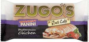Zugo's Mediterranean Chicken Panini (152g) was £2.20 now £1.10 @ Tesco