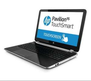 "HP Pavilion TouchSmart 15-n065sa 15.6"" Laptop 750GB HDD 8GB RAM - New £345.91 @ eBay / Currys PC World"