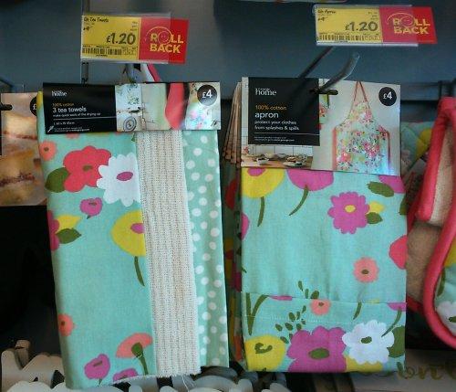tea towels & matching apron £1.20 @ Asda instore