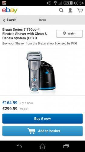 braun 790 shaver £164.99 @ ebay  bestbrands_uk
