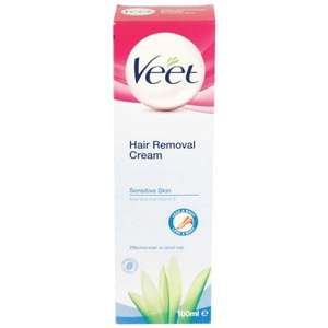 Veet Hair Removal Cream Sensitive Skin (100ml) ONLY £1.99 @ Poundstretcher