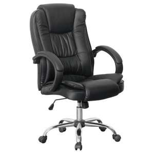 Santana Black Office Chair PU Leather Half Price + Free Sipping 64.99 @ more4homes eBay