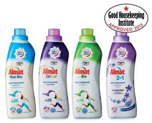 Aldi Almat 42 wash liquid, special offer £3.29, 7.8p/wash instore.