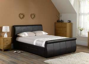 Lucia Double Bedstead with Sprung Slates £271.20 @ Dreams