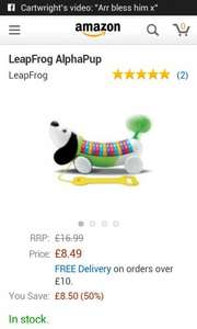 Leap frog Alpha pup - £8.49 @ Amazon (Free delivery with Prime/£10 Spend)
