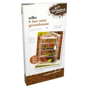 Wilko 4 tier mini greenhouse. £1.85. Wilko instore (plus lots of other gardening offers)