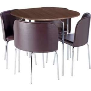 Amparo Dining Table and 4 Chairs - Walnut Effect & cream was £249 then £89 now £49.99 in store collection + £8 home delivery @ argos