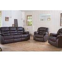 Fernandez Three-Seater Reclining Sofa and Chairs Set for £649.99 With Free Delivery (72% Off)  @ Groupon