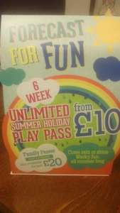 Wacky Warehouse  Summer Holiday deal : £10 unlimited play for 1 child and £20 for 4 children until 31/08/14 + 10% off your food bill