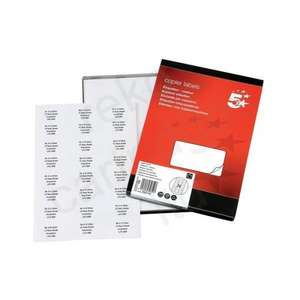 Printer labels - 24 per sheet - £3 for box of 100 sheets on Amazon (Add-On Item)