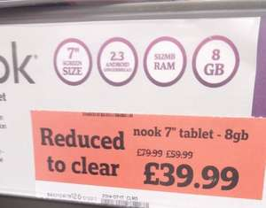 "Nook HD 8GB *INSTORE* - 7"" E-Reader/Tablet Further Reduction Now Just £39.99 - Superb Price @ Sainsbury's"