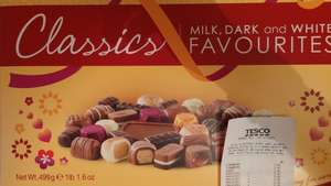 Thorntons Milk, Dark and White Favourites 499g scanning at £5 (normally £12) @ Tesco