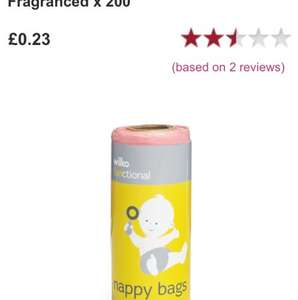200 nappy bags for 23p at wilkinsons