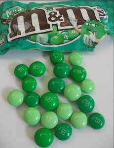 M&Ms dark mint 42.5 g  also - peanut butter and pretzel 69p @B&M