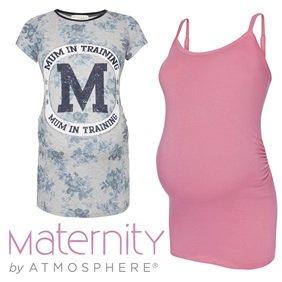 Maternity Cami/Halter Cotton Soft - Black & Pink - Primark £3