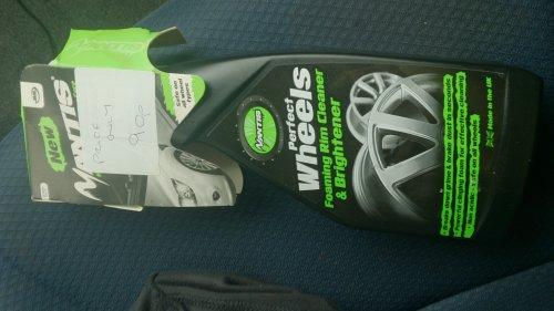 mantis foaming wheel cleaner 90p Wilkinson Sittingbourne kent