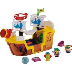 Fisher-Price World of Little People Pirate Ship Now only £11.99 R&C @  Argos