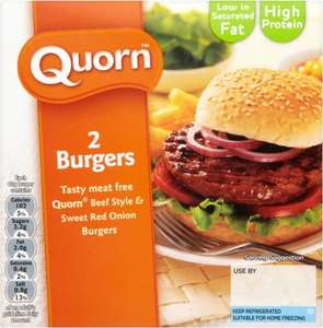 Quorn Beef Style & Sweet Red Onion Burgers (2) (160g) ONLY £1.00 @ Asda